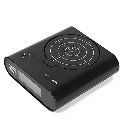 Gun Target Desk Alarm Clock Gadget with Black Gun