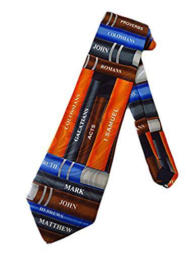 Steven Harris Mens Books of the Bible Necktie - Mulitcolor - One Size Neck Tie