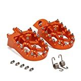 Billet MX Wide Foot Pegs Footpegs Foot Pedals Rests For KTM 65SX 09-18,85SX 03-17,150-300XC/250XC-F 200-530XC-W/XCF-W 06-16,125SX/250-450SX-F,250SX,125-530 EXC/EXC-F,350-450XC-F