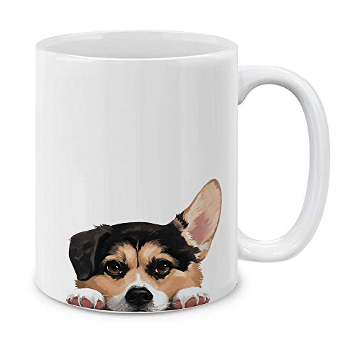 MUGBREW Tricolor Pembroke Welsh Corgi Ceramic Coffee Gift Mug Tea Cup, 11 OZ ()