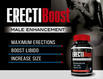 ErectiBoost - Enhance Pills MAX - Increase Size, Hardness, and Get POWERFUL Blood-Flow - Male Enhancement Pills - Male Pills - Male Enlargement - Increase Size NOW!