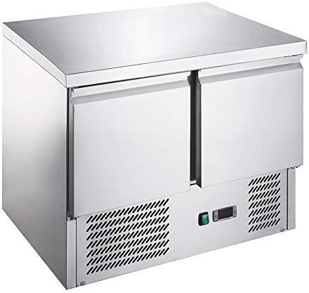 Saladette/Kühltisch PREMIUM - 0,9 x 0,7 m - mit 2 Türen