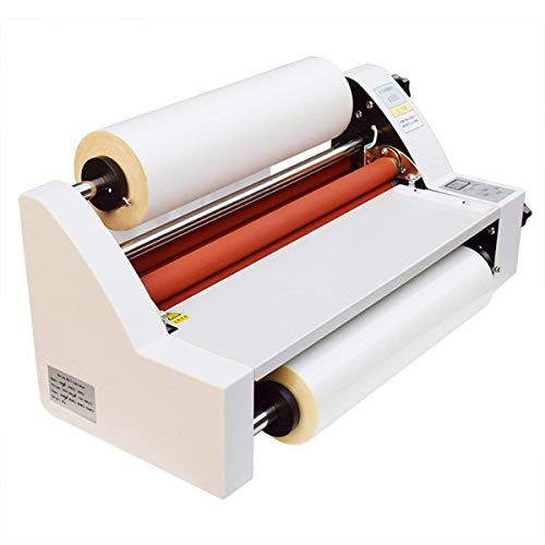 One Sided Laminator - Laminating Machine, 17'' Hot and Cold Roll Laminator Single & Dual Sided for Office Use