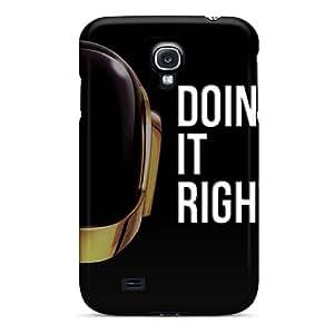 Samsung Galaxy S4 YCu1160EQJN Provide Private Custom Realistic Daft Punk Band Pattern Protector Hard Phone Cover -CristinaKlengenberg