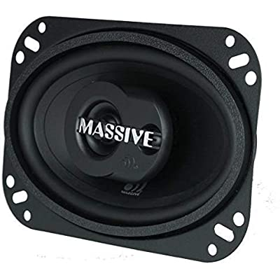 Massive Audio MX46 MX Series Coaxial Speakers. 80 Watts, 4 Ohm, 40w RMS Heavy Duty 4x6 Inch 2 Way Speakers. Enjoy Crystal Clear Sound with These Great Coaxial Speaker System (Sold in Pairs): Home Audio & Theater