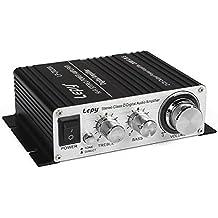 Lepy LP-2020A-3A Stereo Class-D Hi-Fi Digital Audio Amplifier with Power Supply Black US