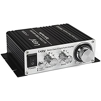 Lepy LP-2020A-3A Stereo Class-D Hi-Fi Digital Audio Amplifier with Power Supply Black US