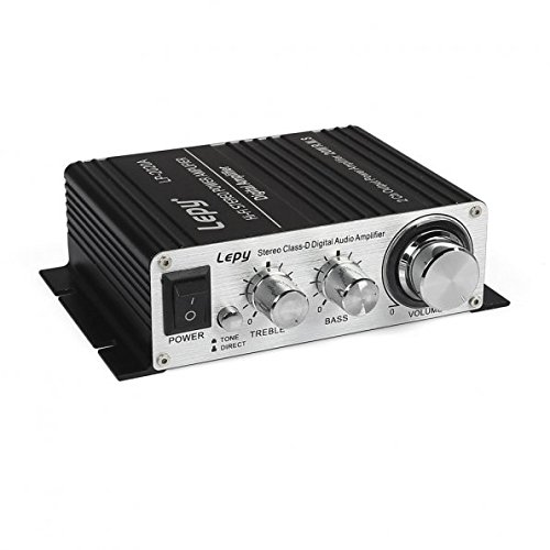 Lepy LP-2020A Hi-Fi Digital Amplifier, Mini Stereo Audio Amplifier with Power Supply Black US