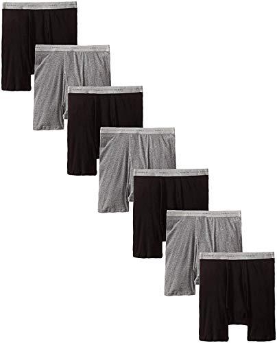 Hanes Men's Boxer Briefs with Comfort Flex Waistband Black/Grey (XXXXX-Large, Black/Grey - 7 Pack) ()