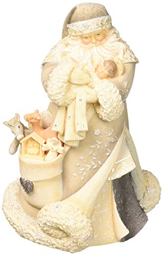 Enesco Foundations 6001153 Santa With Baby Jesus Figurine, 7.68