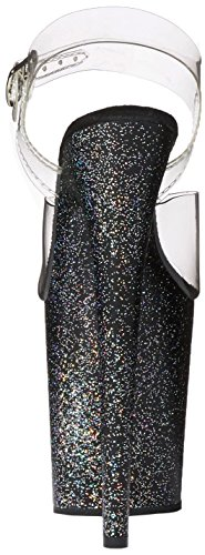 Pleaser FLAMINGO-808MG Clr/Blk Glitter Size UK 2 EU 35