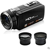 SEREER HDV-Z8 Home Camcorder 1080P Full HD Portable Camera 16X Digital Zoom Support Teleconverter Wide Angle 12x Telescope Lens Max 24MP Support Face Detection