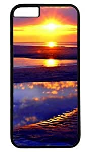 Beach Sun Rise Abstract DIY Hard Shell Black iphone 6 plus Case Perfect By Custom Service