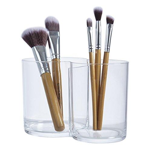 STORi Premium Quality Clear Plastic Multi-Purpose Makeup Brush Holder