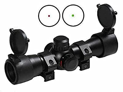 """Ultimate Arms Gear Tactical Dual Red & Green Dot CQB Remington 870 12/20 Gauge Shotgun Rifle Scope 7/8"""" Weaver Picatinny Rail Mounting Rings, Lithium Battery & Lens Cleaning Kit from Ultimate Arms Gear"""