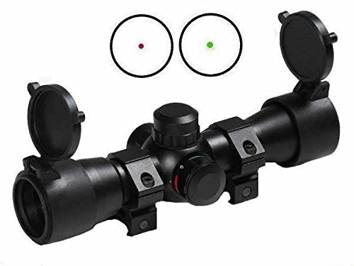 Saiga 12 Guns (Ultimate Arms Gear Tactical Dual Red & Green Dot CQB Saiga Rifle 7.62 .308 .410 or 12 & 20 Gauge Shotgun Rifle Scope 7/8