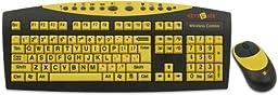 Keys-U-See Wireless Large Print Keyboard and Wireless Mouse Bundle Set (Keys U See)