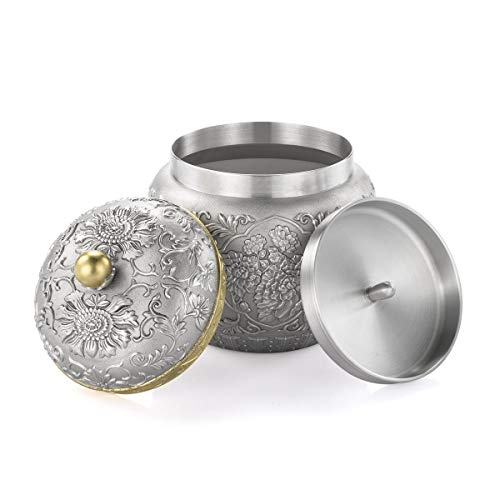 Royal Selangor Hand Finished Straits Expression Collection Pewter Peony Tea Caddy by Royal Selangor (Image #3)