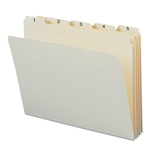Smead 11769 Indexed File Folders, 1/5 Cut, Indexed 1-31, Top Tab, Letter, Manila (Set of 31) (Cut Top Tab Monthly File)