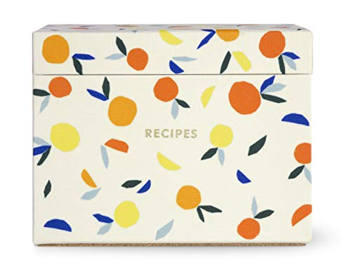 Kate Spade New York Recipe Box with 40 Double Sided Recipe Cards (Citrus Twist) (Kate Spade Place Cards)