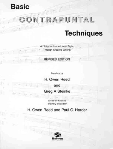 Basic Contrapuntal Techniques: An Introduction to Linear Style Through Creative Writing, Book & 2 (Owen Reed)