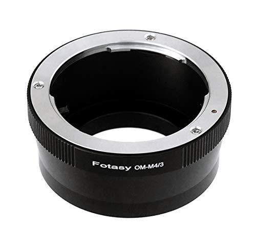 Fotasy Olympus OM Lens to Micro 4/3 Adapter, fits Olympus E-PL6 E-PL7 E-PL8 OM-D E-M1 I II E-M1X E-M5 I II III E-PM2 E-PM1 Pen-F/Panasonic G7 G9 GF6 GF7 GF8 GH5 GM5 GX7 GX8 GX9 GX85 GX80 GX850