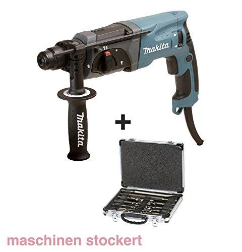 Makita HR 2470 Bohrmaschine + Bohrer & Meißelset