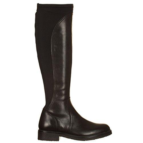 Caf I17 Noire He101 010 Femme Cuir Noir Chaussure En Nero Stretch Cafè xqTtIOzwfW