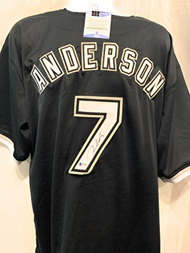 Tim Anderson Chicago White Sox Signed Autograph Custom Black Jersey JSA Certified Chicago White Sox Autographs