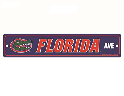 WinCraft NCAA Florida Gators Full Color Street Sign, 3.75 x 19 Blue