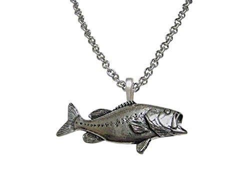 Kiola Designs Bass Fish Pendant Necklace