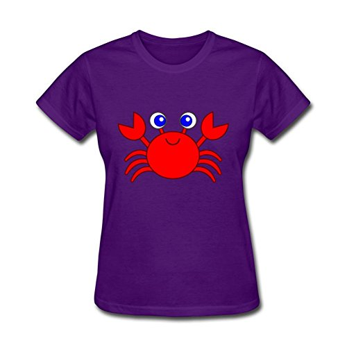 (YuYShirt Women's Crab Red Short Sleeve T-Shirt)