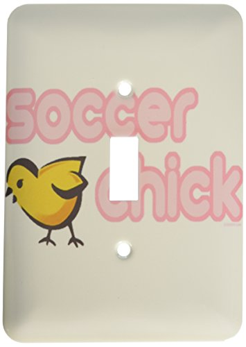 Soccer Chick - 3dRose lsp_16523_1 Soccer Chick Single Toggle Switch