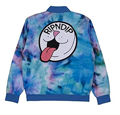 278ce0abd Amazon.com: RIPNDIP Pill Varsity Jacket: Clothing
