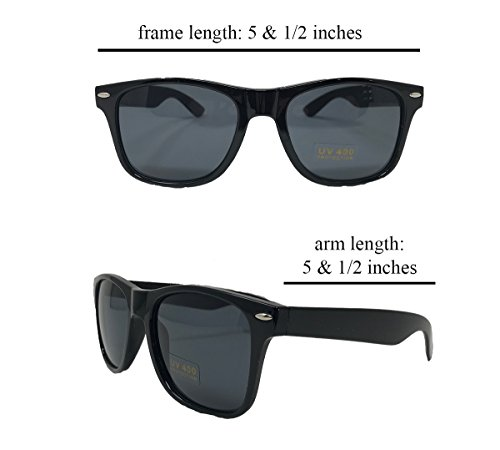 Black Sunglasses Retro Wayfarer Replica Sunglasses For Men Women Kids Black Replica Sunglasses