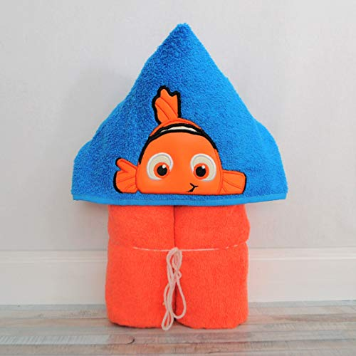 Orange Clown Fish Hooded Bath Towel - Baby, Child, Tween