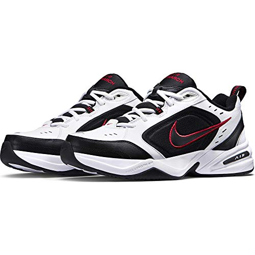 Nike Air Monarch IV Training Shoe (4E) - White/Black/Varsity Red, Size 9 US