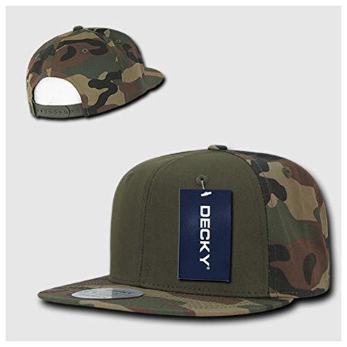 (90210 Wholesale Men's Baseball Cotton Cap Snapback Plain Hip Hop Military Army Camo Hunting Hats (Woodland Camo/Olive/Woodland Camo))