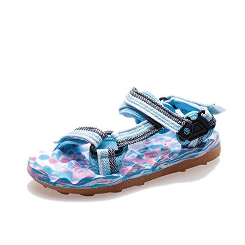 Slip Anti Shoes Beach Flat Toe Sole Open Sandals Female 3 Massage Shoes Summer Webbing Slippers Rubber R8qOwz