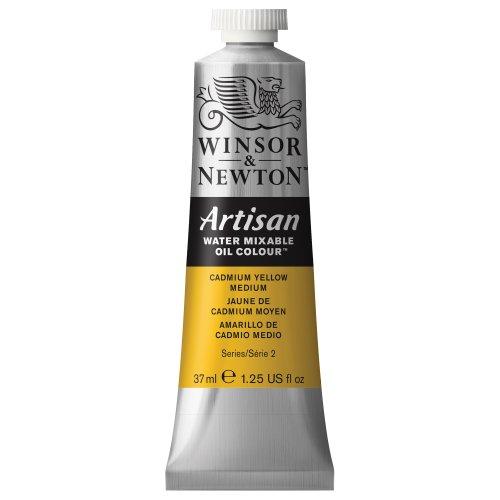 Winsor & Newton Artisan Water Mixable Oil Colour Paint, 37ml tube, Cadmium Yellow Medium