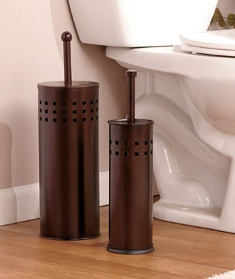 Oil Rubbed Bronze Toilet Brush and Toilet Plunger Set by TLSC