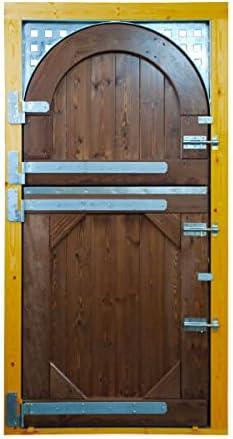 ESTRUCMADER - Puerta Partida en 2 Hojas para Box de Caballo. Mod. Cuarto de Milla 115x220, Roble/Cerezo/Nogal/Natural