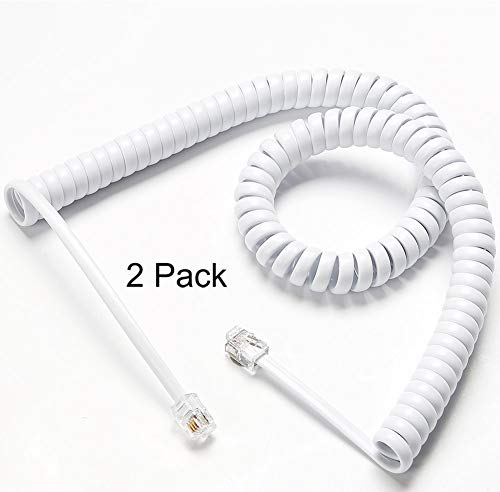 6 ft telephone cord coiled - 4