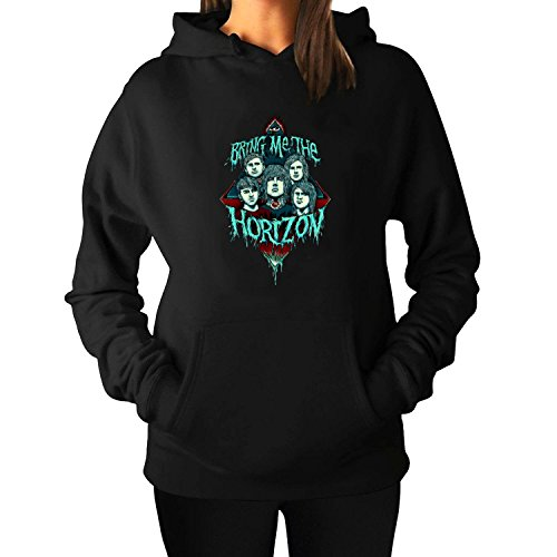 Lady's Pullover Hooded Sweatshirts BMTH Band Outwear - Sunglasses Blake Lively