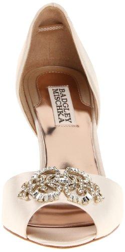 Badgley Mischka Salsa Damen Beige Kleid Sandalen Schuhe Neu/Display EU 39,5