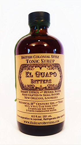 El Guapo Bitters Tonic Syrup - British Colonial Style 16.5oz plastic bottle