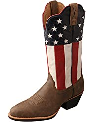 Twisted X Womens American Flag Western Cowgirl Boot Round Toe - Wwt0035