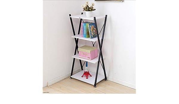 Estante Nan Liang Librería Estantería Simple Estantería Moderna Minimalista Estantería pequeña económica de Acero (Color : Black and White): Amazon.es: Hogar