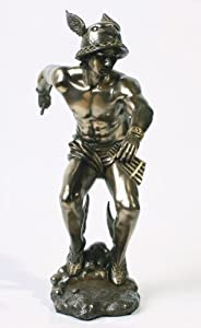 Amazon.com: Bronze Greek Olympian God Hermes Statue: Home ...