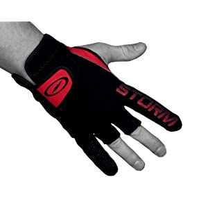 MICHELIN Storm STPG LR Bowling Glove, Black/Red,,Large